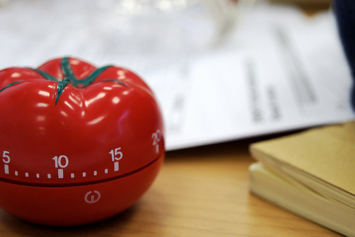 Work time-effectively by using the pomodoro technique