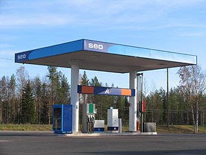 SEO in Finland - A gas station, not only search engine optimization