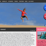 Linas Träningsblogg WordPress template