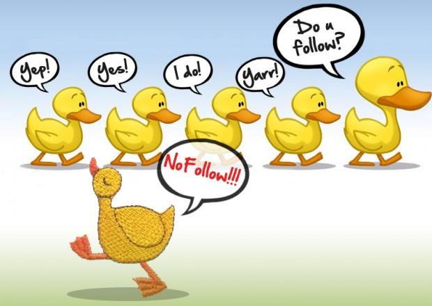 nofollow links, nofollow ducks