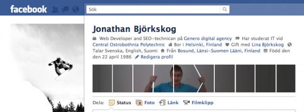 Facebook banner for profile