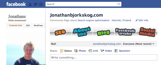 Facebook banner for page listing services