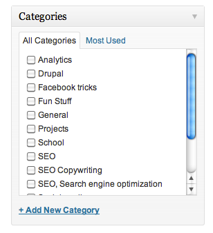 SEO-trick 2: Use WordPress categories right for better onpage optimization