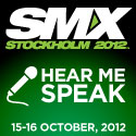 I am speaking at SMX Stockholm about advanced social media tactics