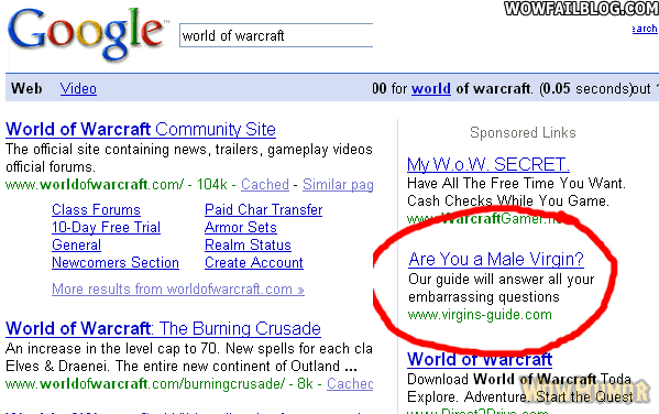 google-adwords-product-placement-wow-singles